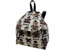 HENNEY BEAR  CASUAL ΣΑΚΙΔΙΟ ΠΛΑΤΗΣ backpack  G-15100A  MΠΛΕ/ΜΠΕΖ