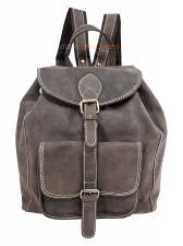 DOMLEATHERS CASUAL ΔΕΡΜΑΤΙΝΟ ΣΑΚΙΔΙΟ ΠΛΑΤΗΣ backpack DSL34 KAΦΕ OIL PULUP