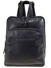 THE CHESTERFIELD BRAND CASUAL ΔΕΡΜΑΤΙΝΟ ΣΑΚΙΔΙΟ ΠΛΑΤΗΣ backpack C58.015000 MΑΥΡΟ